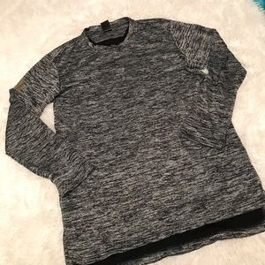 Men's Space dyed Gray Adidas Long Sleeve Shirt
